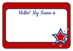 Hello! clipart name tag