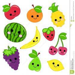 Rapsberry clipart cute fruit