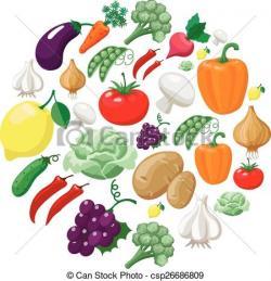 Fruits & Vegetables clipart organic food