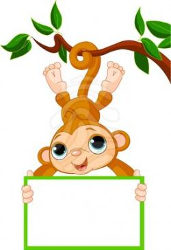 Fun clipart baby monkey