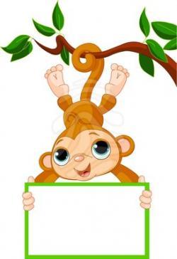 Fun clipart baby monkey
