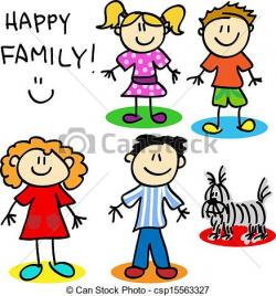 Fun clipart family cartoon