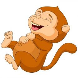 Fun clipart funny monkey