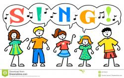 Music clipart group singing