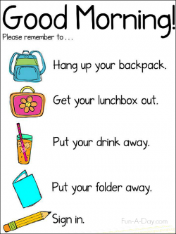 Idea clipart classroom routine