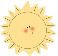 Cute clipart sunshine