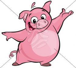 Fun clipart pig