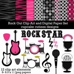 Fun clipart rock star