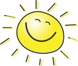 Fun clipart spring sun