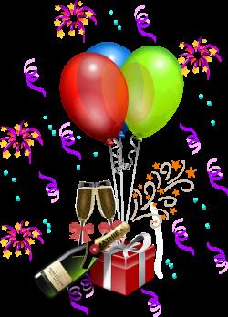 Champagne clipart confetti balloon