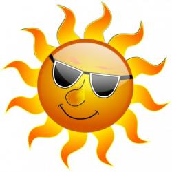 Fun clipart sun smiling