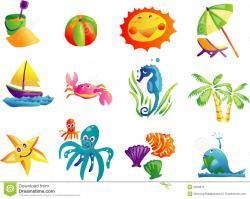 Seaside clipart beach theme