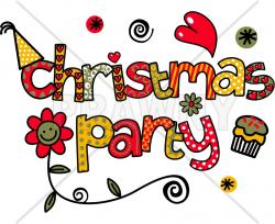 Text clipart christmas party