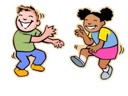 Fun clipart kid dance