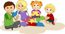 Puzzle clipart kids game