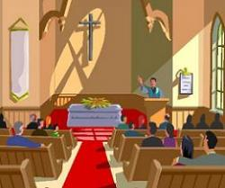 Funeral clipart died