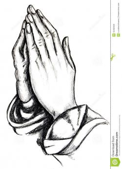 Funeral clipart praying hand