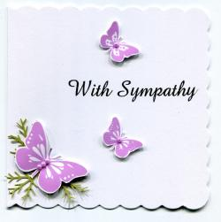 Lily clipart sympathy card