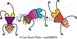 Gymnast clipart children's