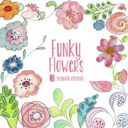 Funky clipart watercolor