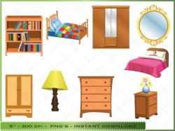 Furniture clipart bed