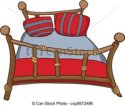 Furniture clipart bed cartoon