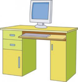 Desk clipart bedroom