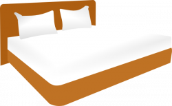 Furniture clipart big bed