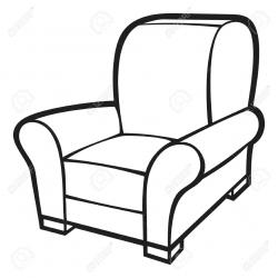 Drawn sofa cartoon