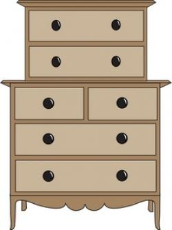 Furniture clipart chest drawer
