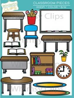 Furniture clipart classroom objects