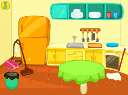Kitchen clipart kitchen mess