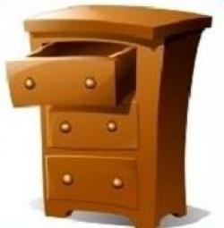 Furniture clipart clothes dresser