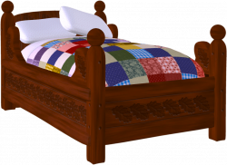 Furniture clipart cute bed