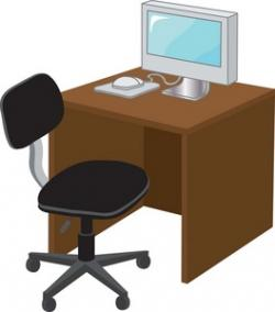 Furniture clipart desk