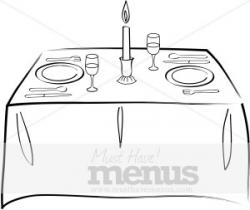 Diner clipart table napkin
