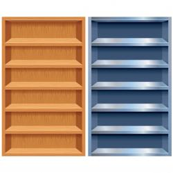 Bookcase clipart empty bookshelf