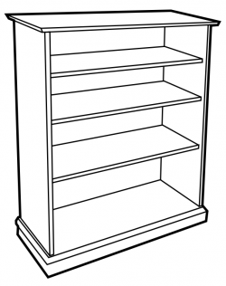 Furniture clipart empty bookcase