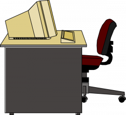 Furniture clipart empty desk