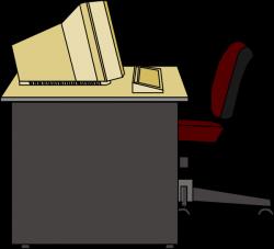Furniture clipart empty desk