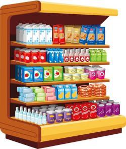 Furniture clipart grocery shelf