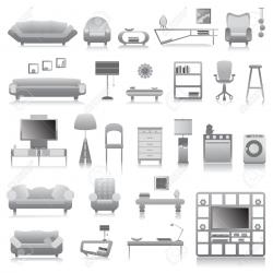 Interior Designs clipart modern furniture