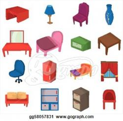 Furniture clipart house furniture