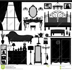 Furniture clipart interior decorator