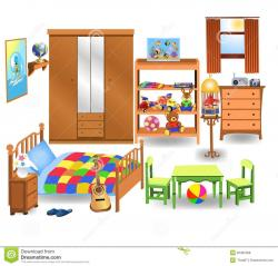 Furniture clipart kids bedroom