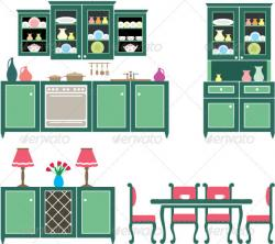 Furniture clipart kitchen furniture