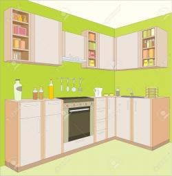 The Kitchen clipart dining room
