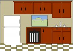 Kitchen clipart kitchen counter