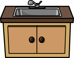 Furniture clipart kitchen sink
