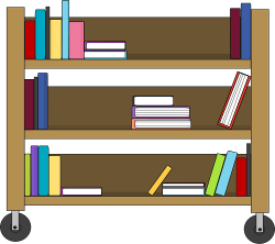 Furniture clipart library shelf